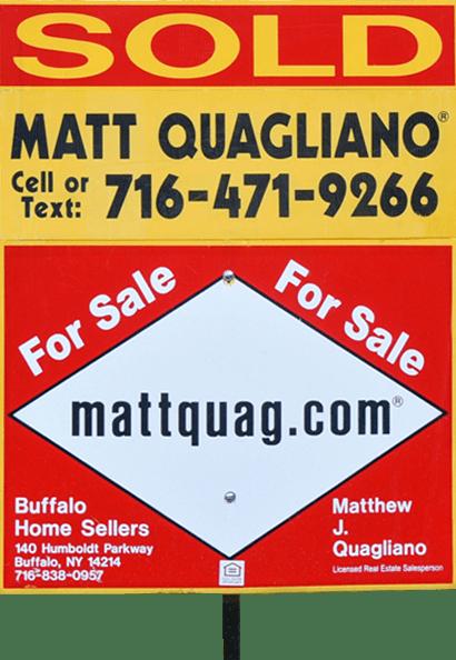 Buffalo Homes for Sale matt-quagliano-real-estate-sold-sign